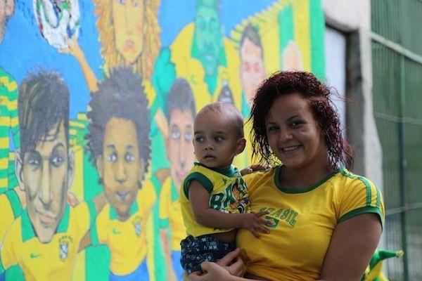mere et enfant brésil