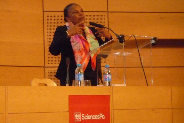 Christiane Taubira à Sciences Po Paris