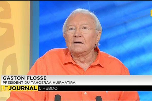 Invité de l'hebdo : Gaston Flosse, Président du Tahoeraa Huiraatira