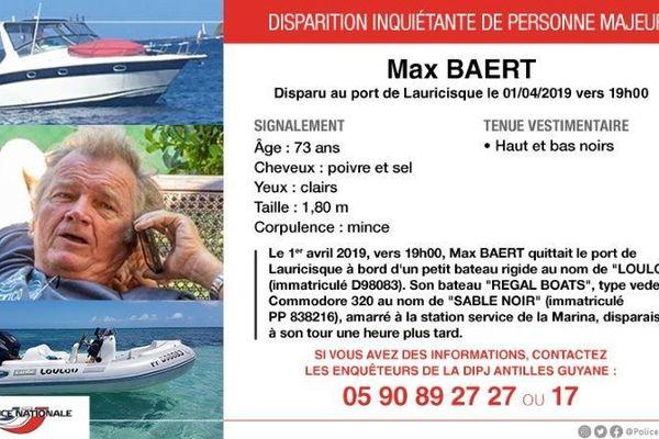 disparition de Max Baert