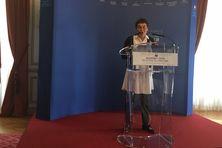 La ministre des Outre-mer Annick Girardin lors de la présentation du budget 2020 pour les Outre-mer.