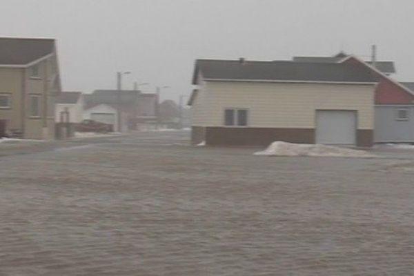 Rue de Miquelon inondée