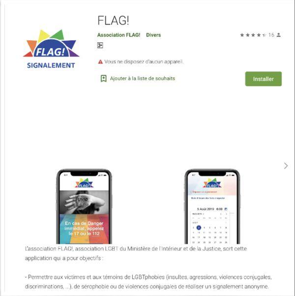 Homophobie application Flag!