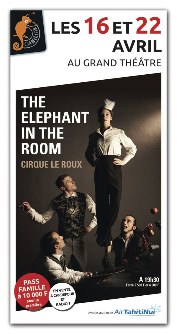 """Affiche """"the elephant in the room"""""""
