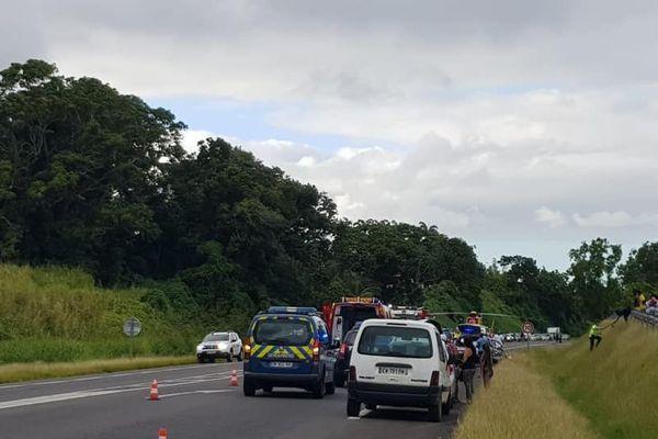 accident à Goyave 19 dec 18 2