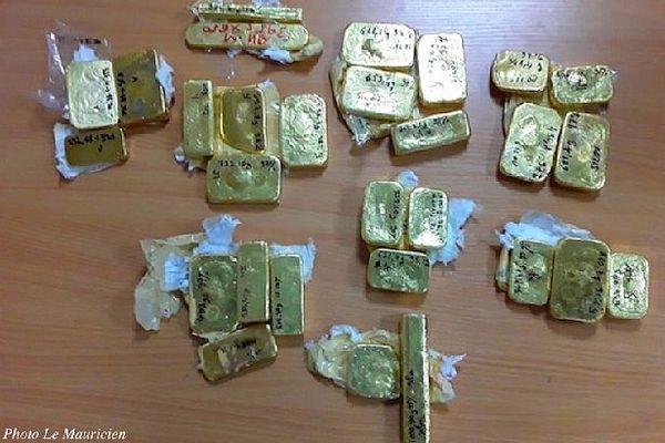 25 kg d'or malgache saisis à Maurice