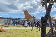 Le 7 septembre 2021, avant le reconfinement, arrivée d'un vol de rapatriement à l'île des Pins.