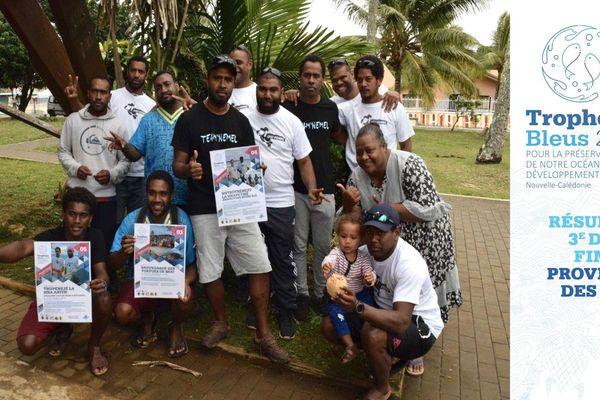 Trophées bleus 2019, les porteurs des trois projets aux îles.