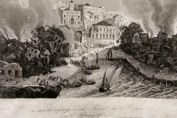 Tableau sur le séisme de 8 février 1843