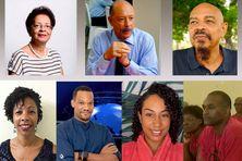 Les membres du CCT (Comité Citoyen de Transparence) : Danielle Marcelline, Claude Lise, André Lucrèce, Céline Rose, Ludo, Hailey et Marcus Cheviot.