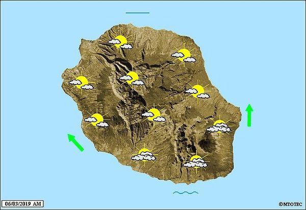 Carte météo 6 mars 2019