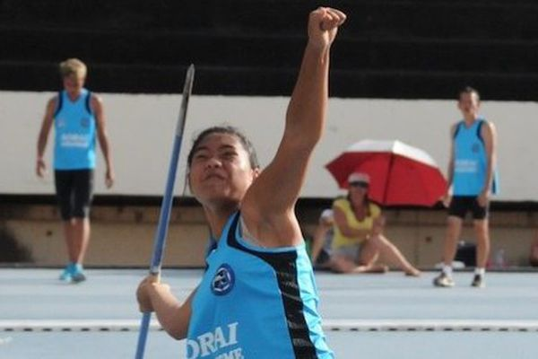 Gwoelani Patu, championne de France d'athlétisme en lancer de javelot