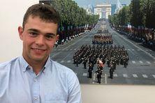Tom Marty. Ce jeune polytechnicien réunionnais défilera sur les Champs-Elysées dimanche 14 juillet 2019.