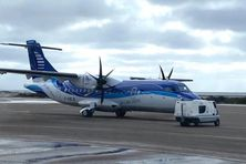 L'ATR d'Air Saint-Pierre à l'aéroport de Montréal