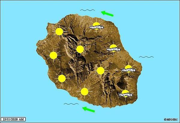 Carte météo 23 novembre 2020