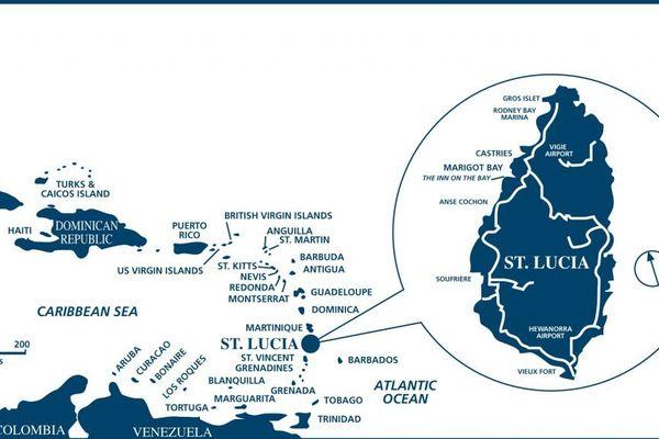 Carte Sainte-Lucie