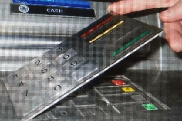 Clavier fraude carte bancaire