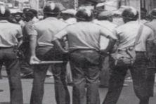 Forces de l'ordre dans les années 60 en Martinique.