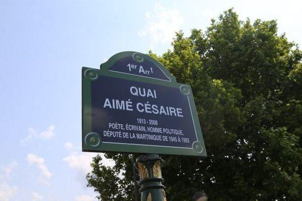 quai Aimé Césaire plaque