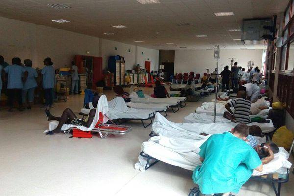 Patients du CHU au Palais des Sports
