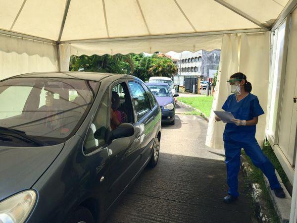 Tests Covid drive à Pasteur de Cayenne