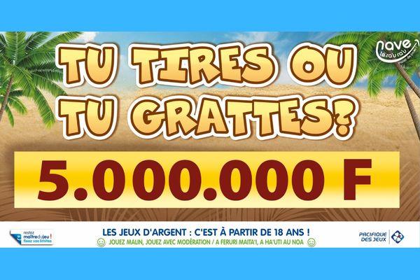 Moorea : il remporte 5.000.000 Fcfp à un jeu de grattage