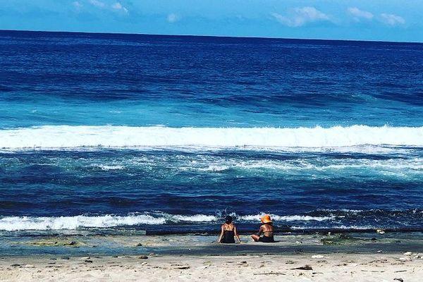 La plage de Grande-Anse à Petite-Ile.