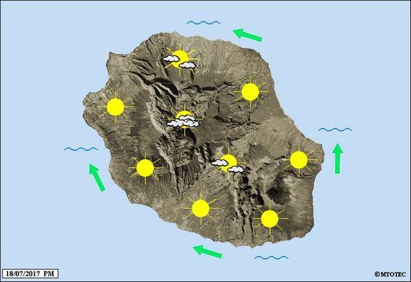 Carte météo du 19 juillet 2017