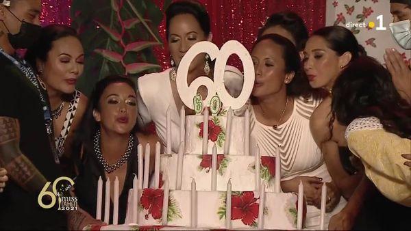 gâteau anniversaire 60 ans miss tahiti