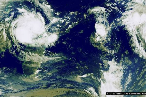 Image satellite de l'océan Indien 24 04 2019