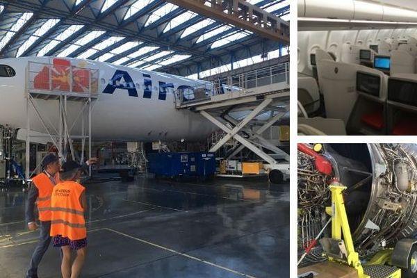 Avion airbus d'aircalin à Toulouse