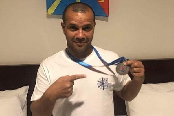 Jean Patrice Hoareau, sapeur-pompier de Saint-Joseph, médaillé d'argent aux jeux de 2019