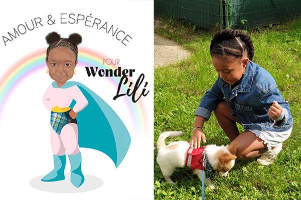 WonderLili Amélie atteinte d'un gliome infiltrant du tronc cérébral