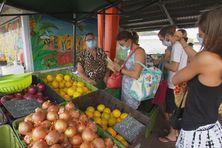 Réouverture du marché de Ducos en mars 2021.