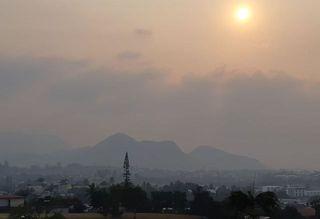 Fumées australiennes, 11 novembre, pic Malawi.