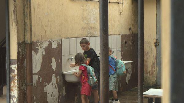 lavage des mains dés la rentrée dans l'école
