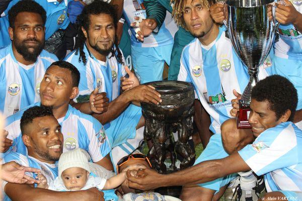 Hienghène Sport a tout raflé cette saison : O'League, coupe et championnat de Calédonie.