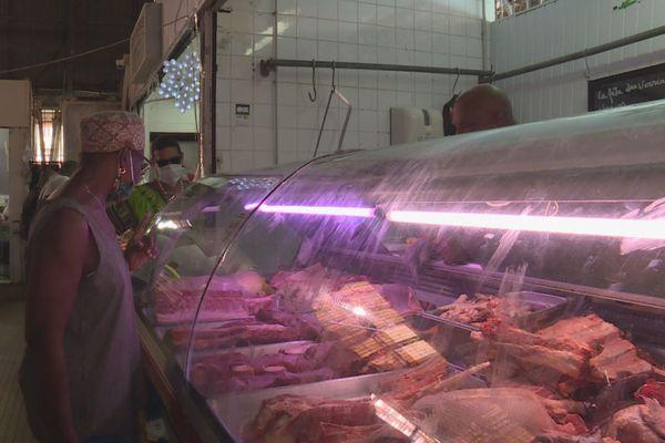boucher au marché