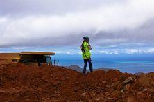 Mineur calédonien sur le massif du Koniambo