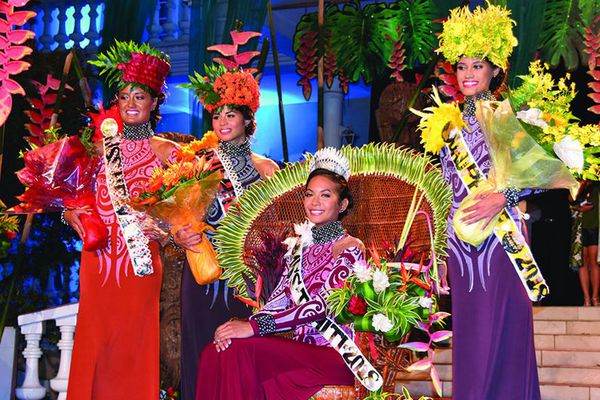 Les Miss Tahiti 2018