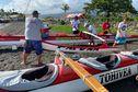 Course Vodafone Race : pesée des pirogues