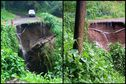 Les fortes pluies ont provoqué un glissement de terrain et emporté partiellement un pont au Morne-Rouge