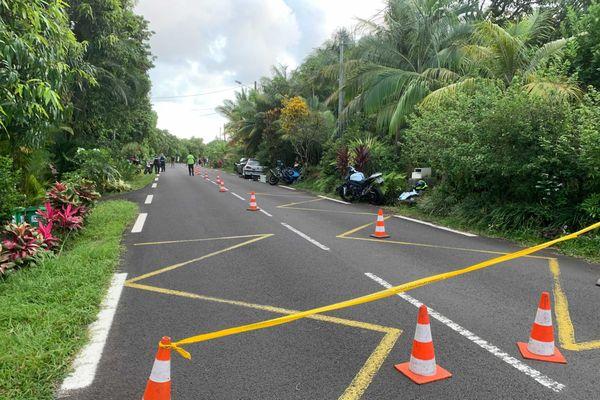 Accident Saint-Philippe, la route est fermée