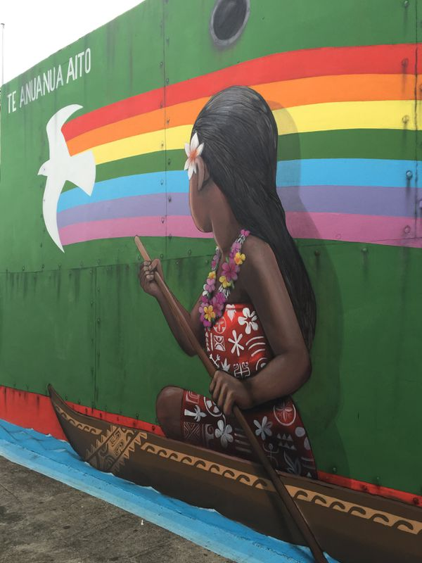 Fresque de SETH avec l'artiste local RIVAL pour le Festival ONO'U 2016