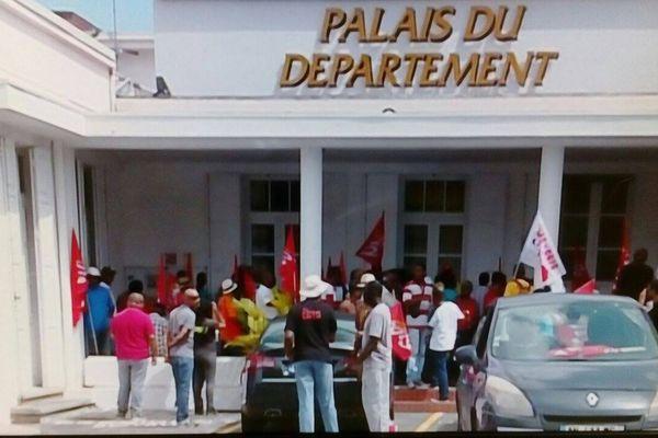 manifestation de la CGTG à Basse-Terre