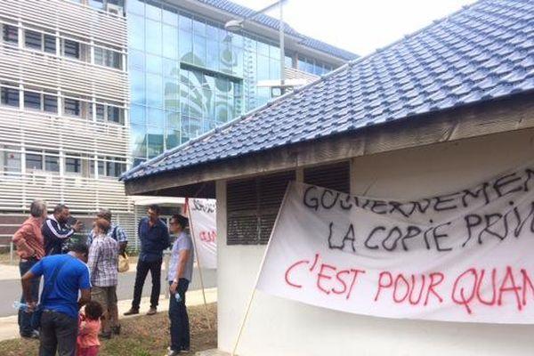 Manifestation de la SACENC pour la copie privée