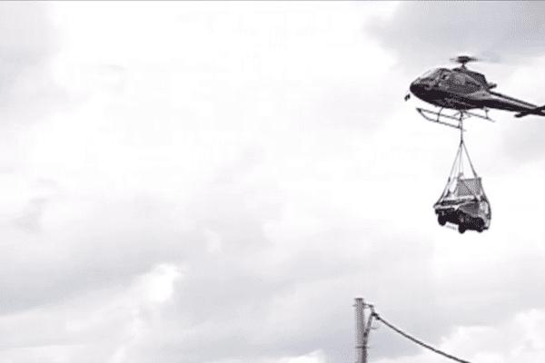Hélitreuillage par hélicoptère
