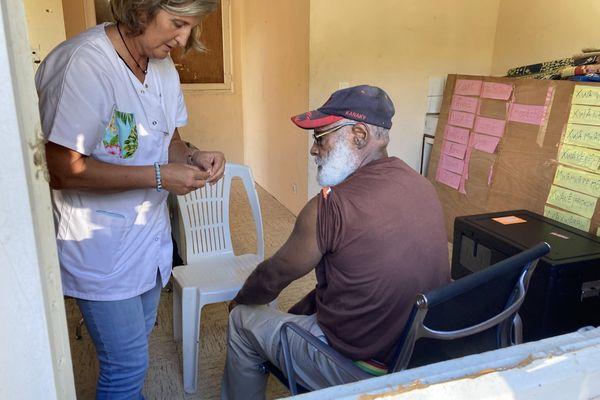 Matinée de vaccination anti Covid-1ç à la tribu de Kouergoa, Boulouparis, le samedi 17 juillet.
