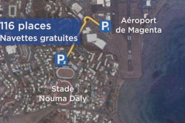 Nouveau parking à l'aérodrome de Magenta