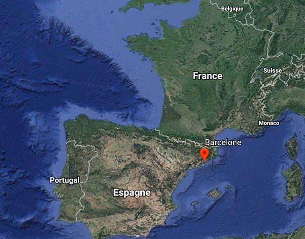 Carte localisation Barcelone